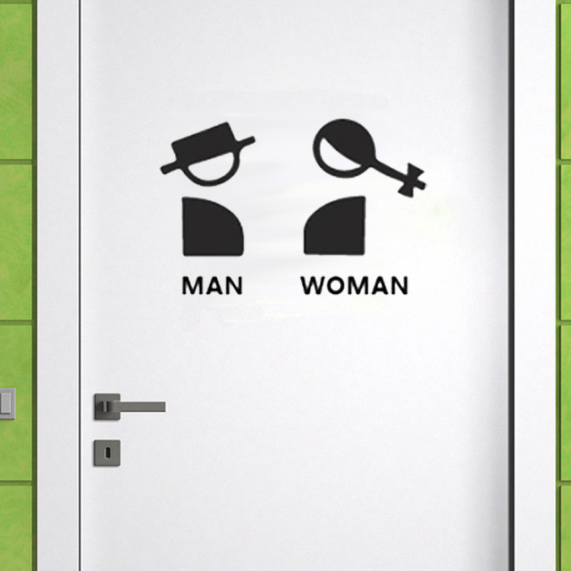 Creative Male And Woman Logo Wall Stickers For Bathroom Door Decorations Art Decals Mural Home Decor Door Sticker Wallpaper Buy At The Price Of 1 32 In Aliexpress Com Imall Com