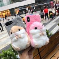 Хомяк чехол для Huawei P20 Lite P20 Pro милый пушистый теплый пушистый чехол для телефона для P10 плюс плюшевые игрушка кукла животных Рождественский