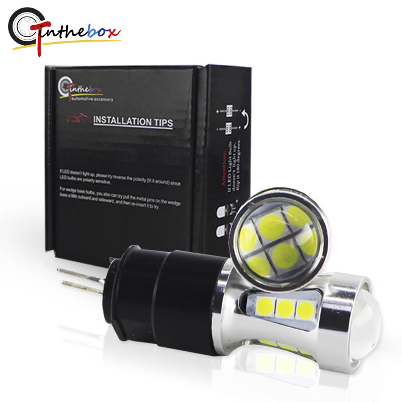 Gtinthebox Error free led drl light Hp24w 3030SMD 12V g4 led Daytime Running Lights bulb lamp for Citroen c5 and peugeot 3008 free ship g4 hp24w 9w amber white led daytime running lights for cars peugeot 3008 led drl light