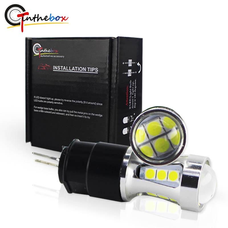 Gtinthebox Hp24w 3030SMD 12V g4 livre de Erros led drl luz Diurna led Correndo Luzes do bulbo da lâmpada para Citroen c5 e peugeot 3008