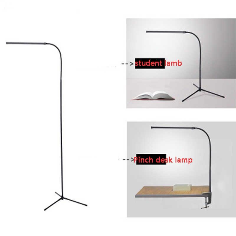 Lámpara de pie moderna multifuncional blanco y blanco cálido LED atenuador lámpara de mesa por USB lectura lámpara de escritorio vertical