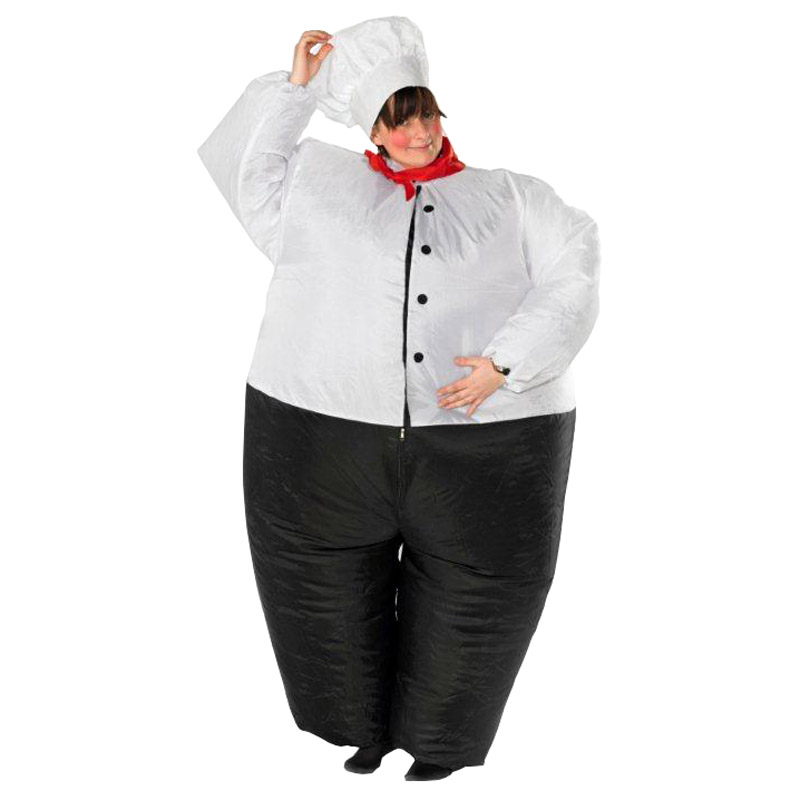 Chef Inflatable Costume Big Chef Cook Restaurant Funny Bar Halloween Fancy Dress Outfits For Halloween Purim Master Bodysuit