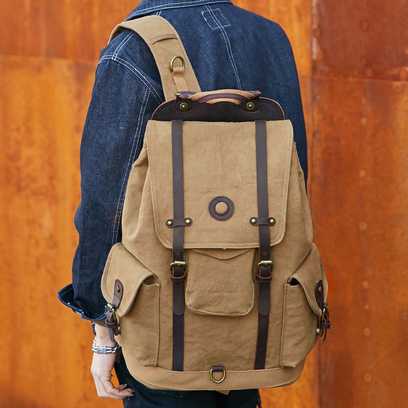 Vintage Satchel Laptop Sport Bags Travel Canvas Outdoor School Backpack Rucksack