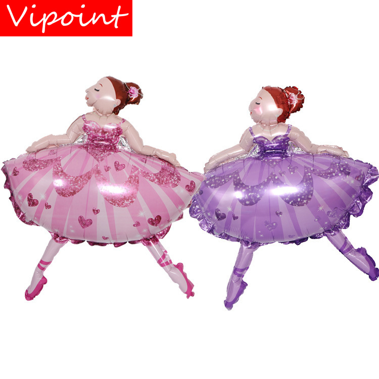 VIPOINT PARTY 77x99cm pink purple dance girls foil balloons wedding event christmas halloween festival birthday party HY-224