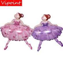 все цены на VIPOINT PARTY 77x99cm pink purple dance girls foil balloons wedding event christmas halloween festival birthday party HY-224 онлайн