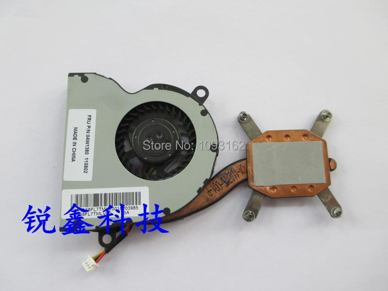 100% Original laptop CPU cooling heatsink&fan&pad fit for Lenovo Thinkpad E10 E11 X120E 04W1380 genuine for lenovo thinkpad e330 l330 cpu cooling fan heatsink 04w4410