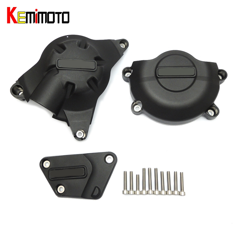 KEMiMOTO For YAMAHA YZF R6 Motorcycle Racing Engine Cover Set Protector Guard for Yamaha YZF-R6 2006-2016 chain guard cover for yamaha yzf r6 2017 full carbon fiber 100