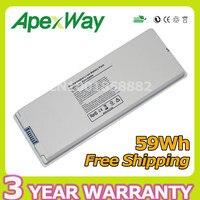 55wh 10 8v White Laptop Battery For Apple A1181 A1185 MA561 MA566 MA561J A MacBook 13
