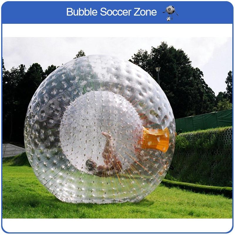Livraison Gratuite 2.5 m Dia Grand Gonflable Corps Boule De Zorb Air Hamster Humain Ballon Gonflable Bal Zorb
