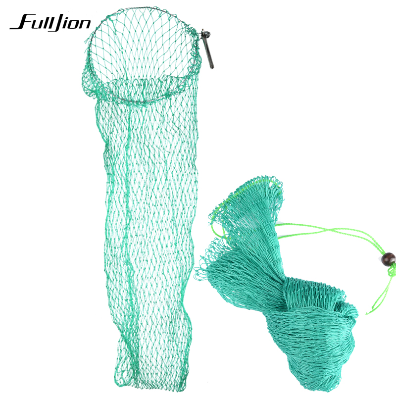 Fulljion Fishing Net Fish Trap Folding Nylon Mesh Crab Shrimp Lures 18 Strands Flattened Widened Fishing Tackle Casting Network