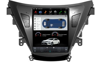 """Tesla Style 10.4 """"Vertical Screen Android 6.0 Car GPS Navigation DVD Player Autostereo for HYUNDAI ELANTRA / MD 2011 2012 2013 -"""