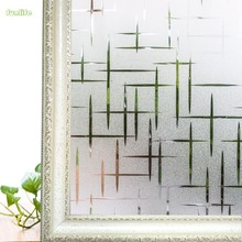 3D Cross Pattern Frosted Decorative Windows Film,Static Privacy Glass Film, Safety Foil For Hotel,Home Bedroom 60*400 cm