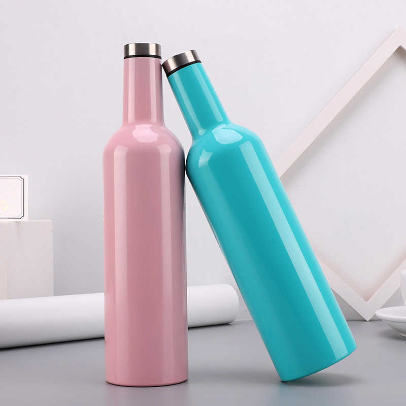 New Double Wall Vacuum Flask Thermos Mug Insulated Cold Drink Cup Wine Tumbler Water Bottle