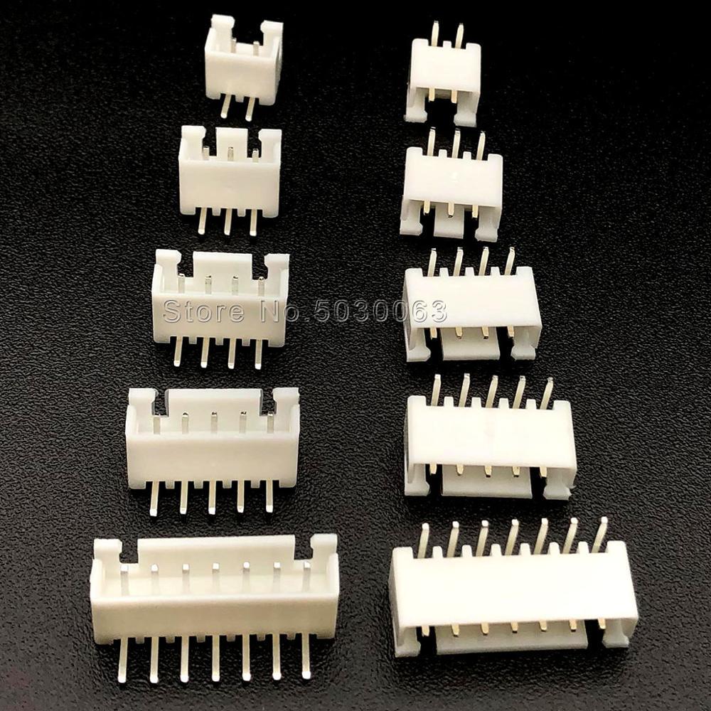 Stecker Stecker Anschlüsse Pin Gerade Weiß 250pcs//set 2pin Kit 2.54mm XH2.54