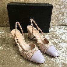 2018 Summer Casul Black Sandals Open Toe Ankle Strap Cover Heels Shoes Woman Slingbacks Party Wedding Lady High Heel Sandals цены онлайн
