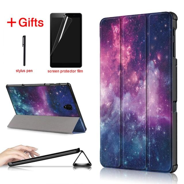 Ultra Slim PU Funda de cuero para Samsung galaxy Tab A 10,5 de 2018 SM-T590 T595 T597 Tablet cubierta para Samsung galaxy tab un caso de 10,5