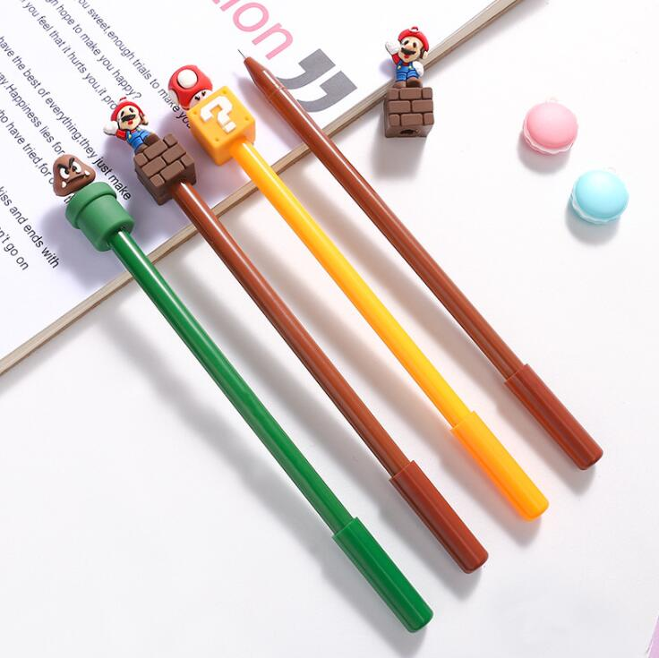 3 Pcs/lot Super Marie Gel Ink Pen Promotional Gift Stationery School & Office Supply