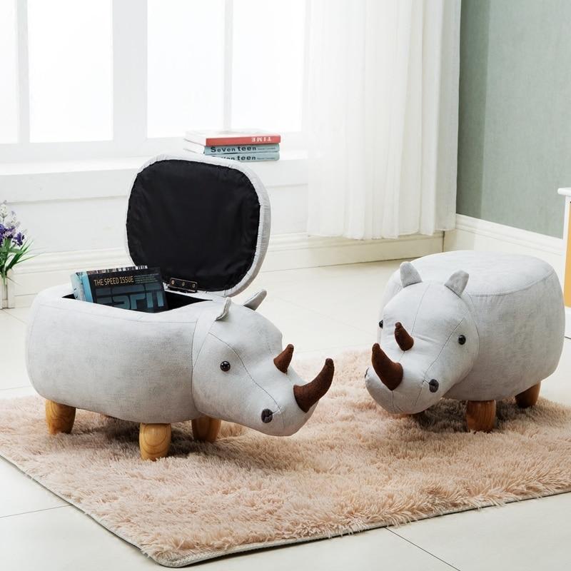 2018 коробка для хранения Organizador Организатор носорог контейнер стул животных Изменить обуви древесины бытовых диван Европа разное полигон
