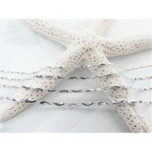 Wholesale 1pc Silver Chain 9 Style Water Wave Chain Necklace for Women DIY Necklace Bracelet Jewelry Twisted Snake Chain(China)