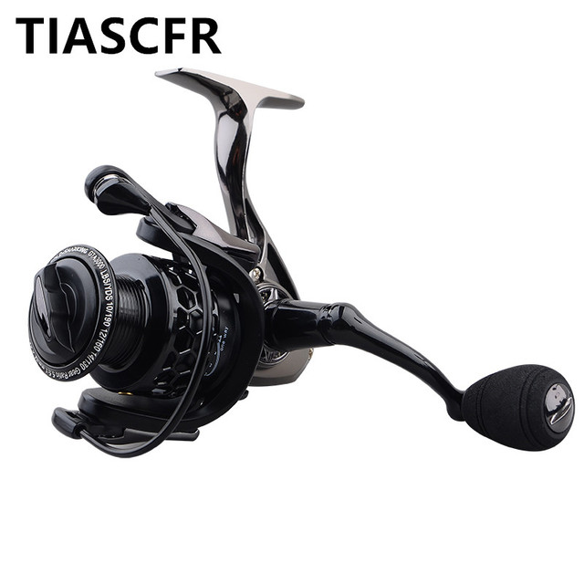 TIASCFR Spinning Fishing Reel Metal 14+1BB XS1000-7000 Series Water Resistance Ultra Light Reel High Gear Ratio Spinning wheel