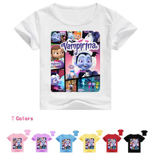 Z&Y 2-16Years Disfraz Vampirina Birthday The Descendants T Shirt for Boys T-shirt Kids Novatx Girl Top Capoeira Model T009