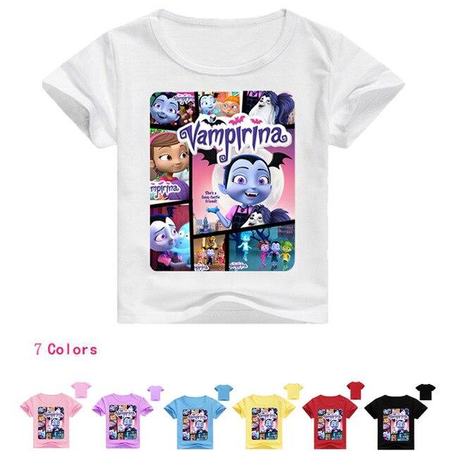 293125965d1 Z Y 2-16Years Disfraz Vampirina Birthday The Descendants T Shirt for Boys T- shirt