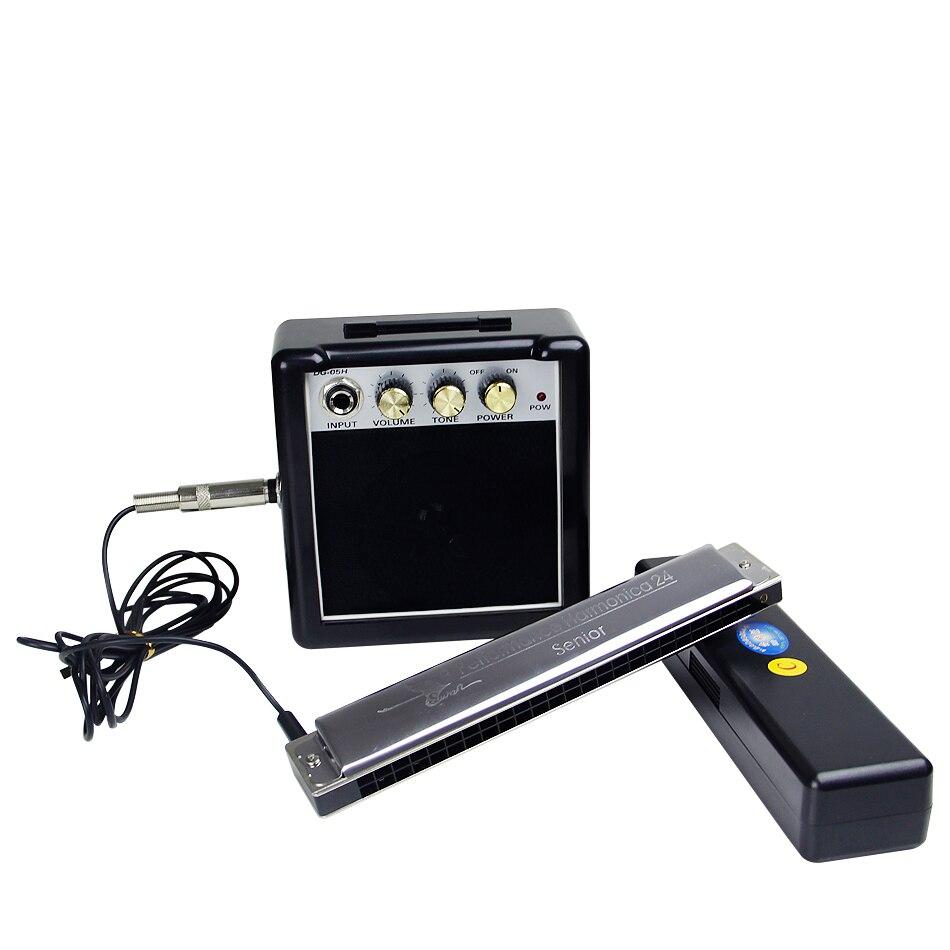 SWAN senior C Key 24 Holes Harmonica Electroacoustic harmonica amplified harmonica amplified футболка