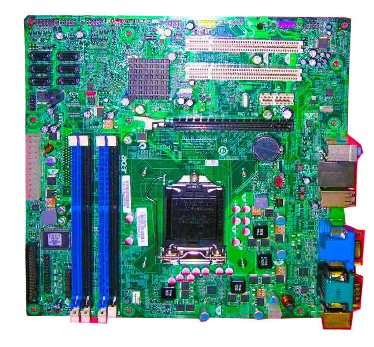 ФОТО High quality M490G Motherboard for H57H-AM V1.0 15-R28-011001 MB LGA 1156 chipset H57 100% tested perfect quality
