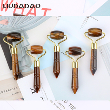 Natural Tigers Eye Rollers Jade Face Smooth Massager Facial Mini Portable Roller Skin Care Crystal