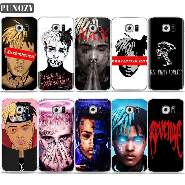 Rapper XxxTentacion Cartoon Lil Pump Wallpaper art Phone Case For Samsung S6 S7 edge S8 S9