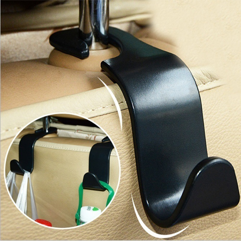 Car Organizer Storage Holder Car Seat Back Hook for Bags Vehicle Hidden Headrest Hanger Clips for Shopping Bag Car Accessories(China)