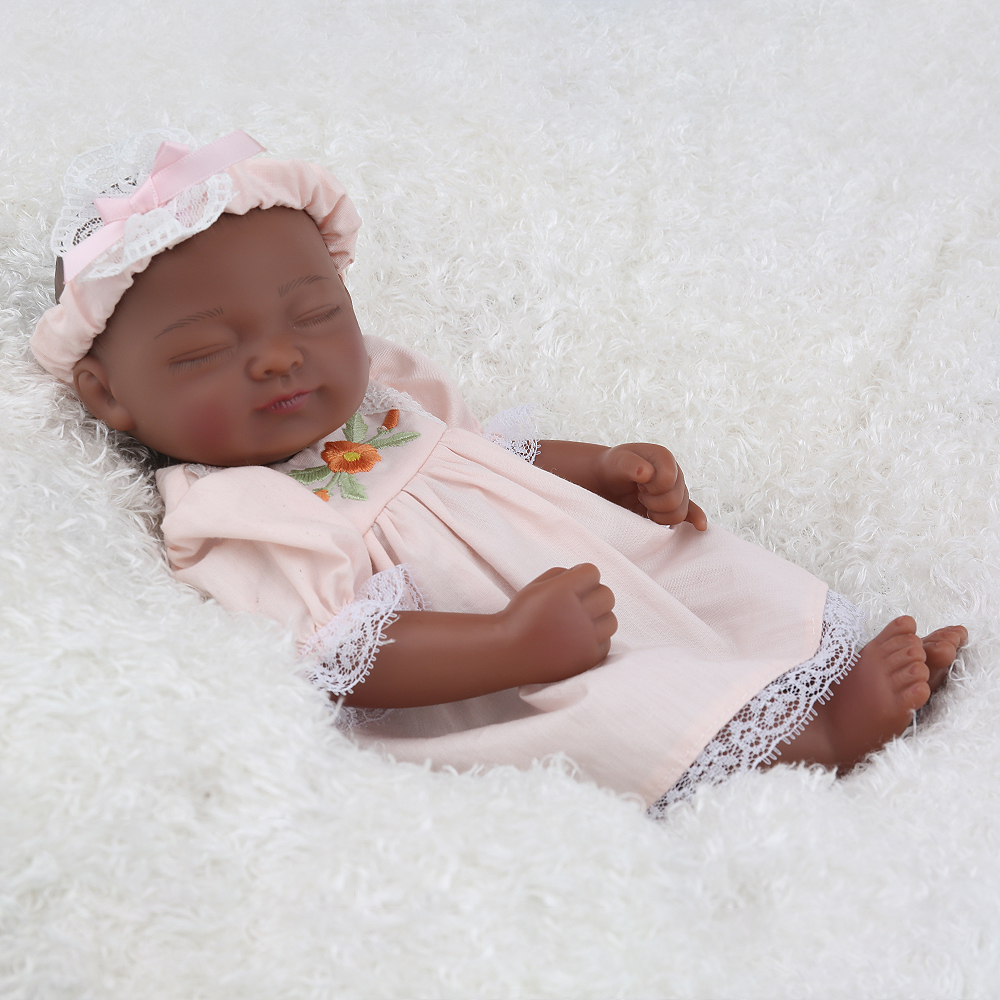 NPK DOLL African American Black Reborn Baby Girl Cute