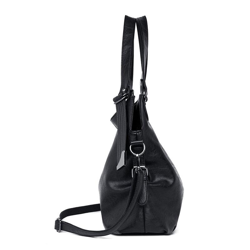 Image 2 - 2019 Large Capacity Women Messenger Bag Designer Women Bags Real  Leather Luxury Ladies Shoulder Bag sac a main Lady Big ToteShoulder  Bags