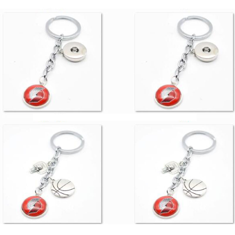 2018 New Keychain Portland Trail Blazers Charm Key Chain Car Keyring for Women Men Gifts Basketball Fan Jewelry