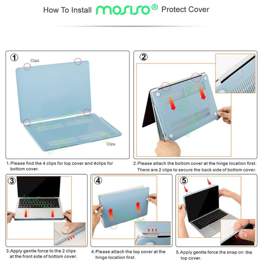 Image 5 - MOSISO новый кристалл  матовый чехол для ноутбука Apple Macbook Pro 13 15 жесткий чехол для нового MacBook Pro 13 Чехол A1708 A1706 A1990-in Сумки и чехлы для ноутбука from Компьютер и офис