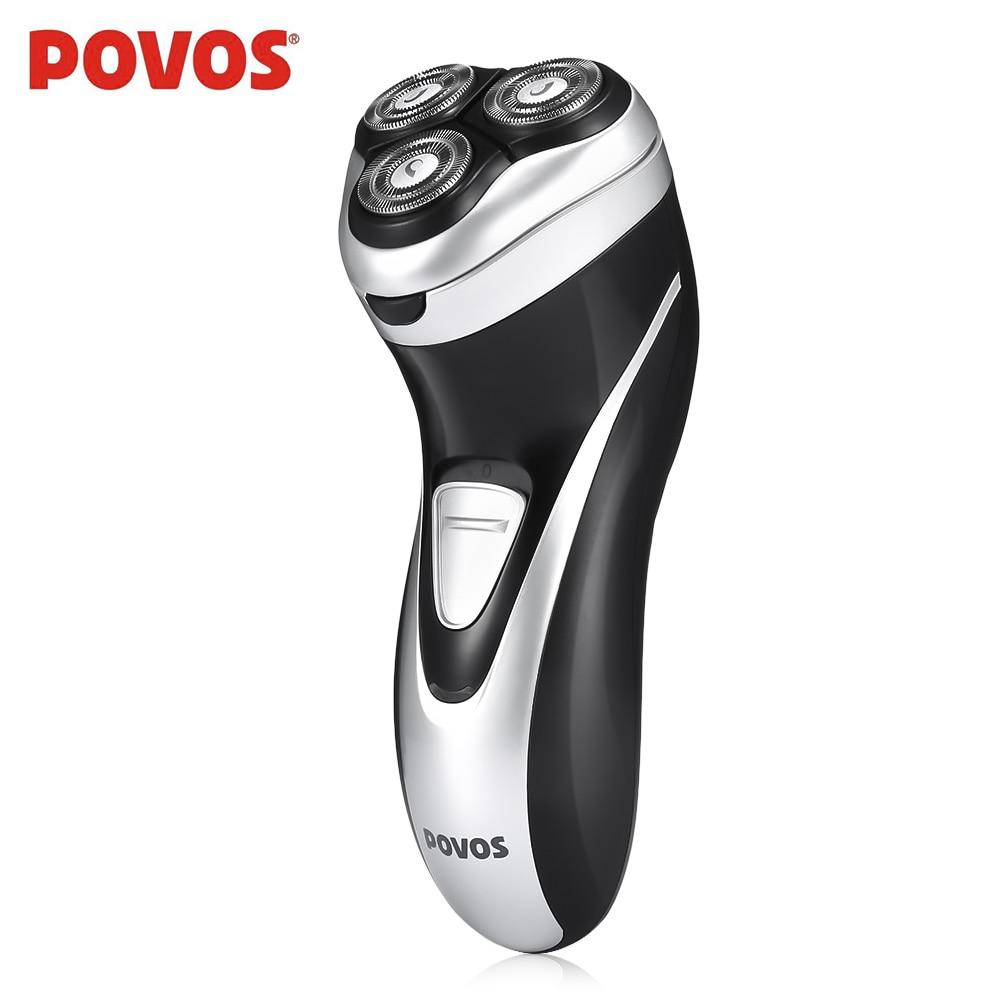 POVOS PQ8806 Electric Shaver 3D Triple Floating Blades Razor