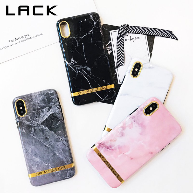LACK Fashion Soft IMD Phone Case For iphone X Case Granite Marble Stone Painted Back Cover Funny