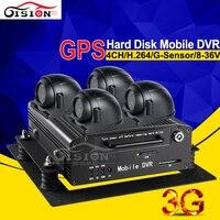 Free Shipping Hard Disk Car Dvr Kits H 264 CCTV Real Time Surveillance 3G GPS Tracker