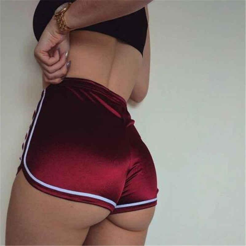 2019 Sexy Women Hot Shorts Stock Womens Casual Running Sports Shorts Gym Workout Waistband Hot Short Sexy