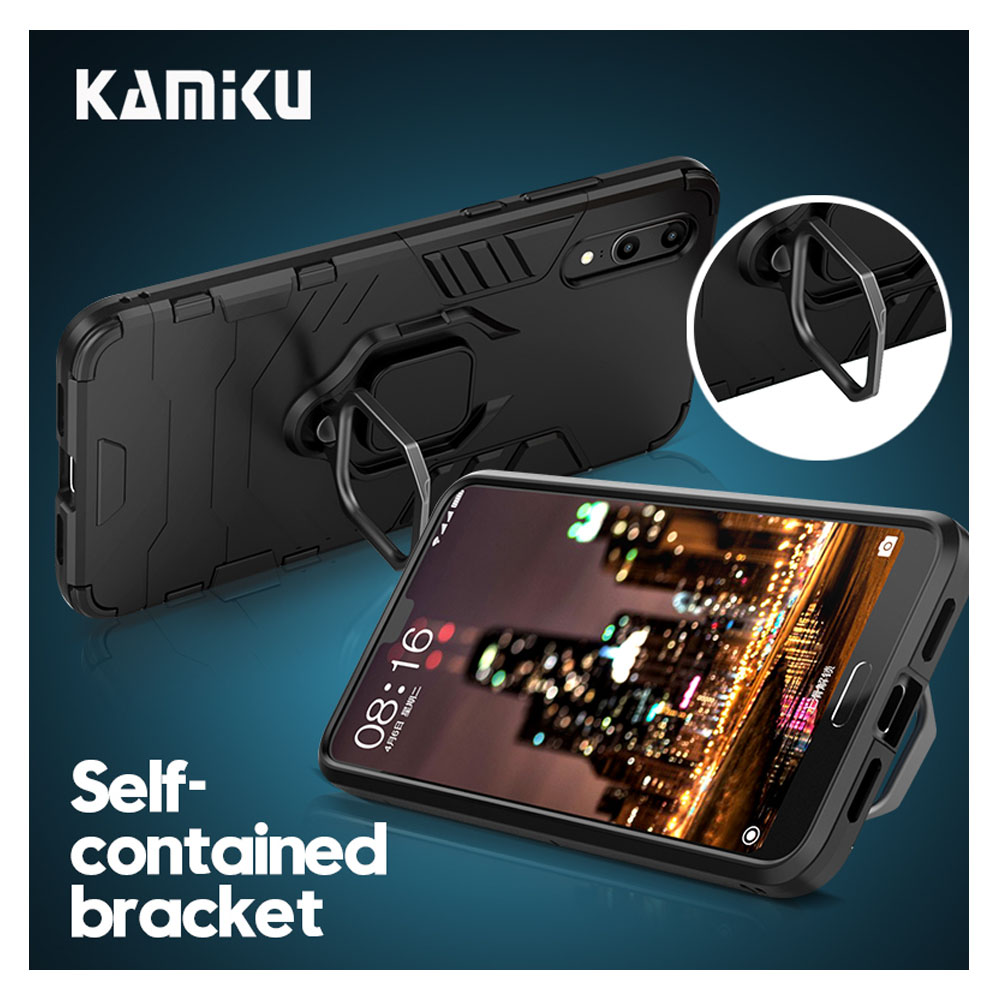 Armor Cases For Xiaomi Mi Max 3 Pocophone F1 With Stand Holder & Ring Fitted Case Supreme Cover Cute Cell Phone Accessories