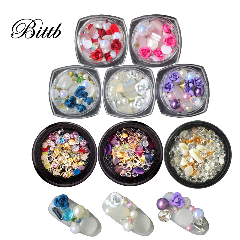 Detail Feedback Questions about Bittb Nail Art Gems Charms Rhinestone Nails  Decoration Stone Microbeads Pearls 3D Metal Studs Geometric Patterns  Manicure ... 0d12eb2c5422
