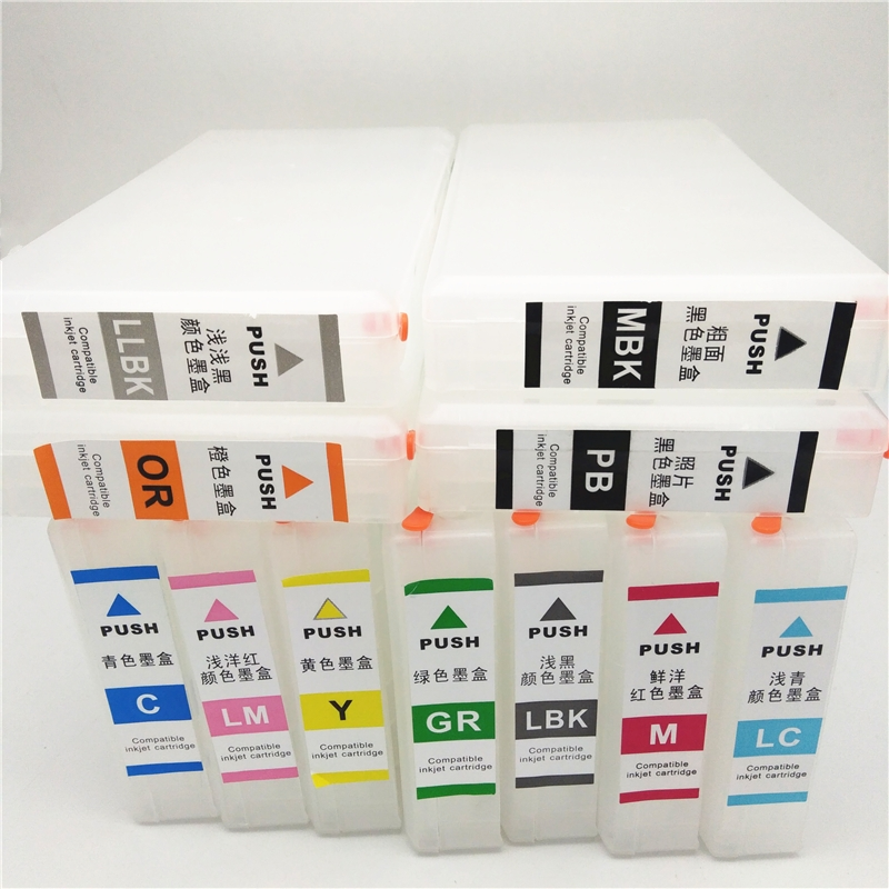 vilaxh T653A T653B Refillable Ink Cartridge For Epson T6531 - T6539 Stylus Pro 4900 Printer With ARC Chip