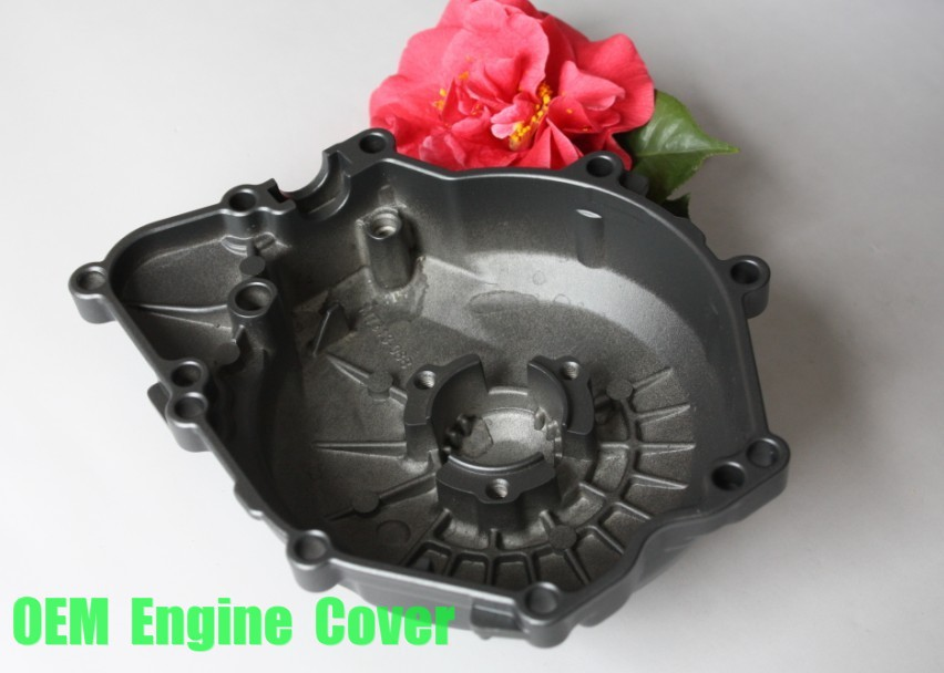 Free shipping motorcycle parts  OEM  Engine Stator cover   for  YamahaYZF R6 2006 2007 2008 2009 BLACK Left side aftermarket free shipping motorcycle parts billet engine stator cover for honda cbr600rr f5 2007 2012 chrome left