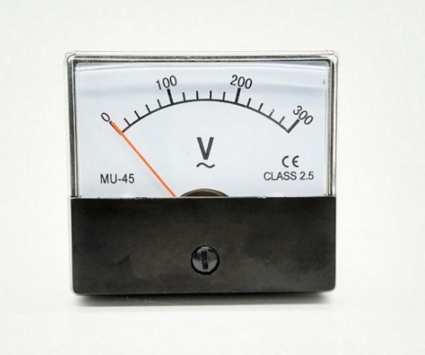 MU-45 пластик AC 0-300V Диапазон Аналоговый вольтметр измеритель величины напряжения панельный метр