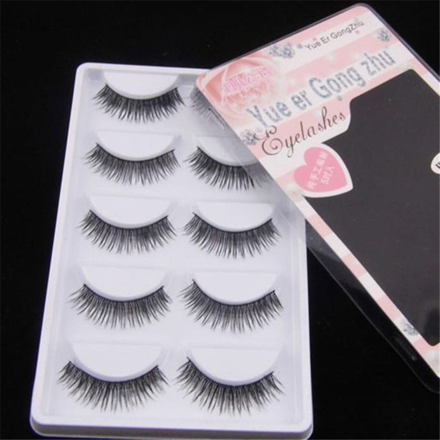 2017 5 Pairs Natural Long Look False Eyelashes Voluminous Soft Mink Fake Eye Lashes Extention Tools Makeup Pestanas falsas