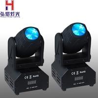 Factory sale 2PCS/LOT 10W LED Moving Head Light beam DMX512 Disco Light 10W Mini Spot Led RGB DMX Moving Head Spot Lighting