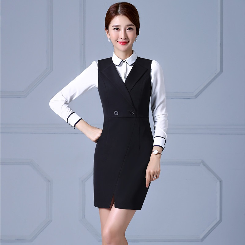 New Arrival Elegant Formal OL Styles Business Suits With Dresses And Blouse For Ladies Office Work Wear Uniforms Plus Size 4XL