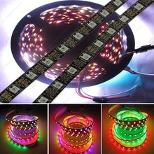 5M DC5V WS2812B Built-in WS2811 IC 60LED/M RGB Dream Color Individually Addressable Pixel LED Strip IP20 NonWaterproof Black PCB