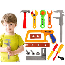 37Pcs Children Pretend & Play Tool Toys  Emulational Repair Kit Toy Educational Tool Box Early Education Toys for Children Boys цена