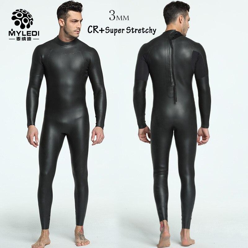 Stretchy Triathlon Wetsuits Mens Fullsleeve Smoothskin 3mm Neoprene Wetsuit for Swimming Ironman Scuba Diving Surfing Snorkeling цена